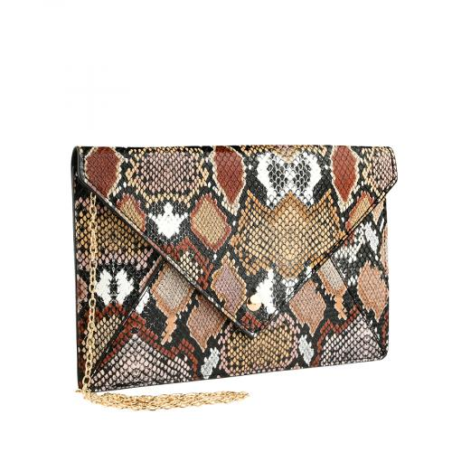 дамска елегантна чанта кафява 0140917