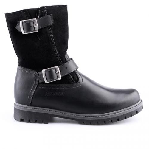 мъжки ежедневни боти черни с топъл агнешки хастар 0127118