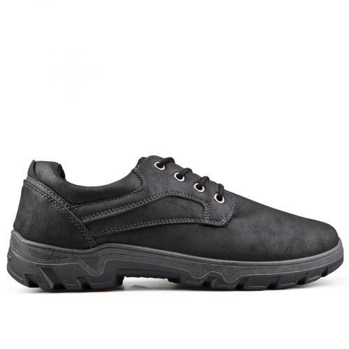 мъжки ежедневни обувки черни 0135107