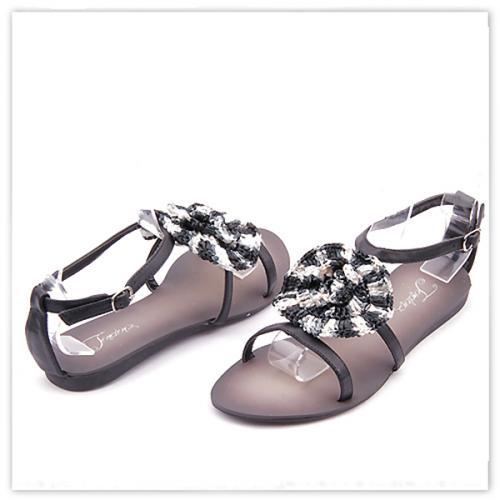 дамски сандали черни 0114543