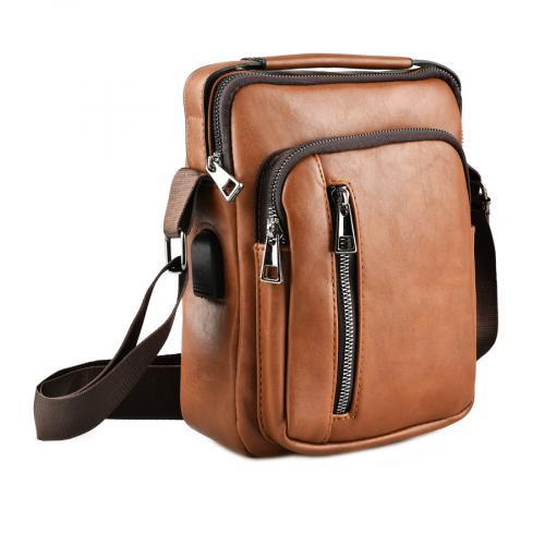 мъжка ежедневна чанта кафява 0143885