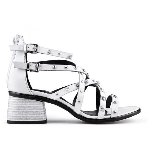 дамски ежедневни сандали бели 0134703