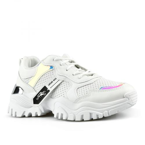 дамски маратонки бели с платформа 0142787