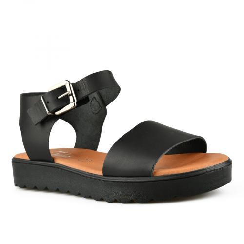дамски ежедневни сандали черни 0144391