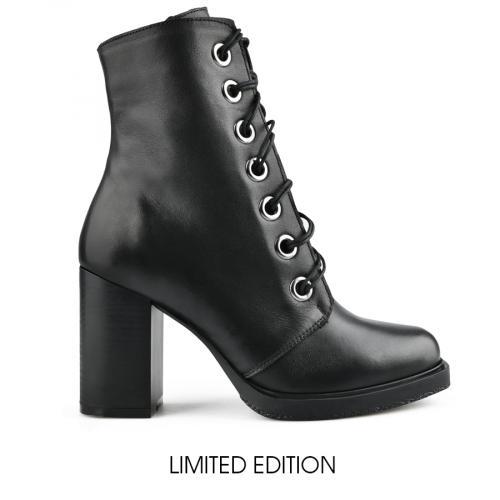 дамски елегантни боти черни 0142991