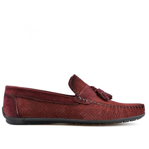 мъжки ежедневни обувки тъмно червени 0138269