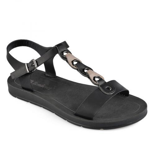 дамски ежедневни сандали черни 0137587