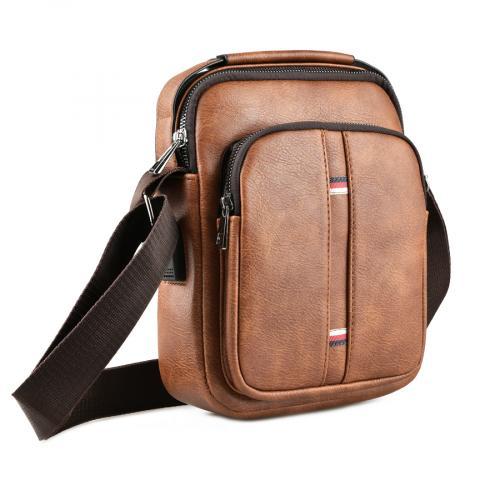 мъжка ежедневна чанта кафява 0143878