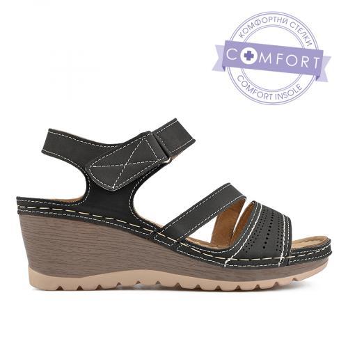 дамски ежедневни сандали черни 0136538