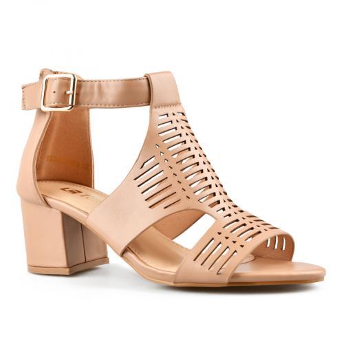 дамски елегантни сандали кафяви 0143268