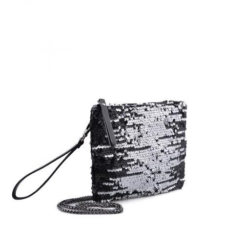 дамска елегантна чанта сребриста 0134324