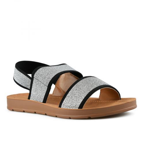 дамски ежедневни сандали сребристи 0143991