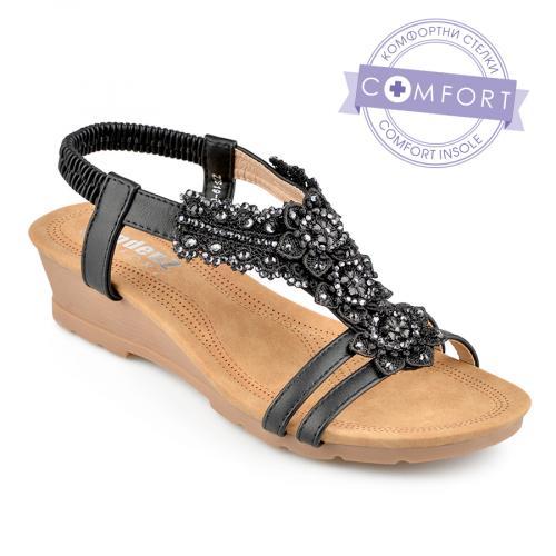 дамски ежедневни сандали черни 0137336