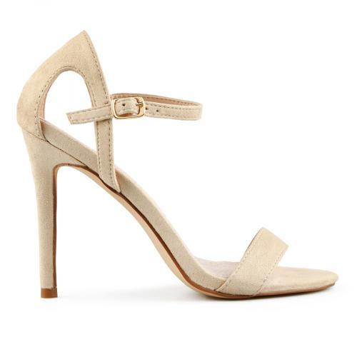 дамски елегантни сандали бежови 0140055