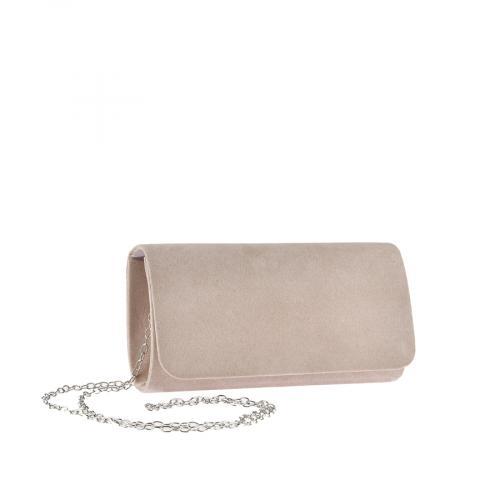 дамска елегантна чанта бежова 0143757