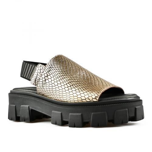 дамски ежедневни сандали златисти 0144498