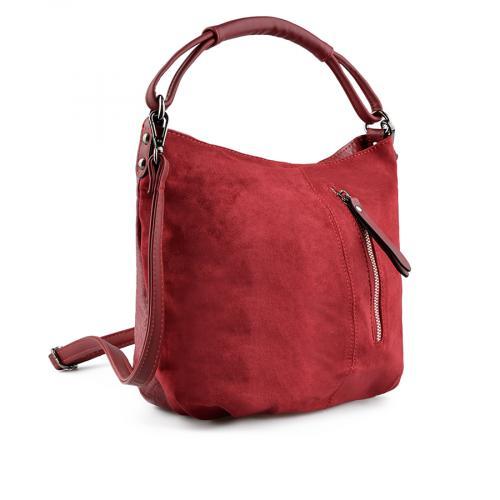 дамска ежедневна чанта червена 0139237