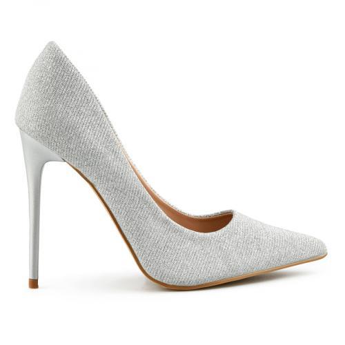 дамски елегантни обувки сребристи 0140463