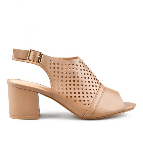 дамски елегантни сандали кафяви 0143272