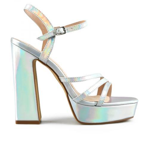 дамски елегантни сандали сребристи 0143107