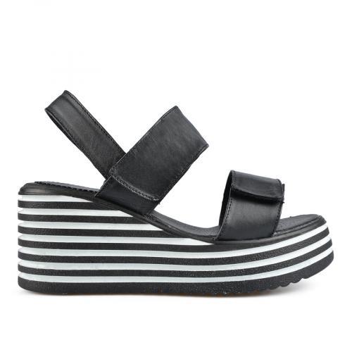 дамски ежедневни сандали черни 0138518