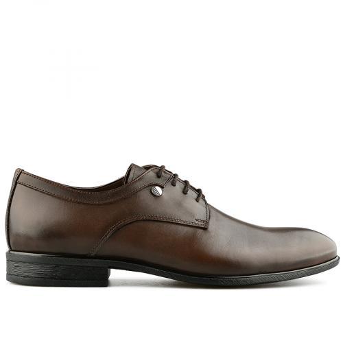 мъжки елегантни обувки тъмно кафяви 0141228