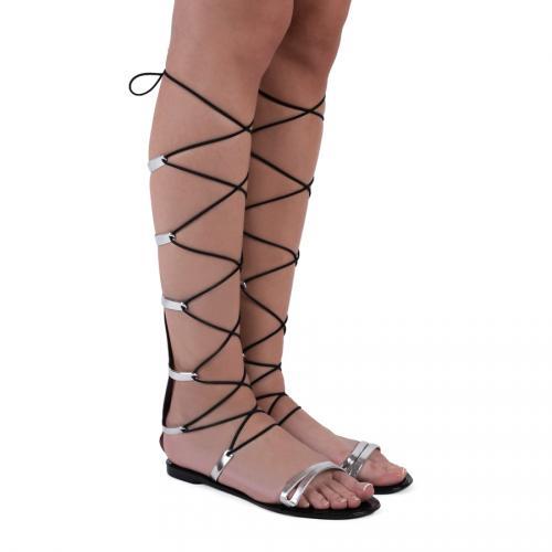 дамски ежедневни сандали сребристи 0127241