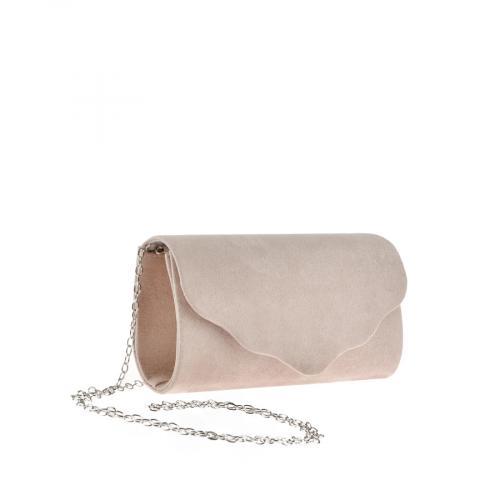 дамска елегантна чанта бежова 0143755