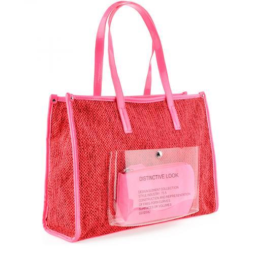 дамска ежедневна чанта червена 0140191