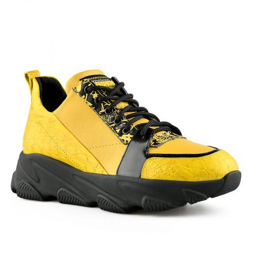дамски ежедневни обувки жълти 0141157