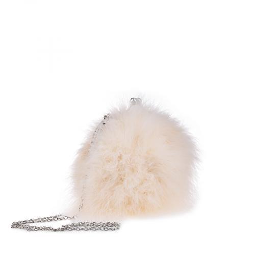 дамска елегантна чанта бежова 0134404