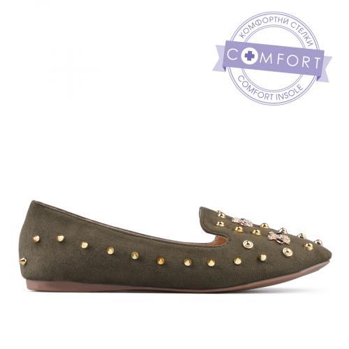 дамски ежедневни обувки зелени 0135078