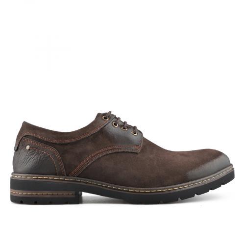 мъжки ежедневни обувки тъмно кафяви 0139501