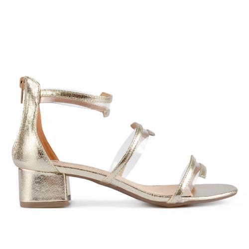дамски елегантни сандали златисти 0137626