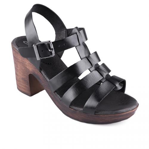 дамски ежедневни сандали черни 0128512