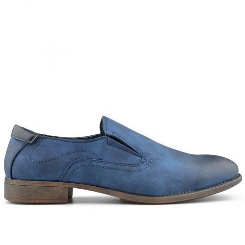 мъжки елегантни обувки сини 0139079