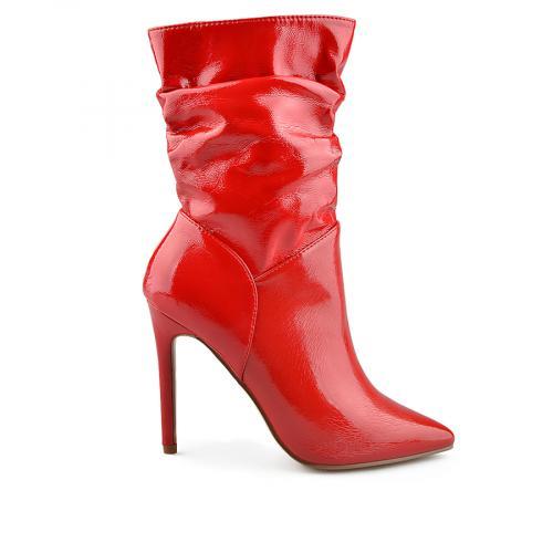 дамски елегантни боти червени 0139012