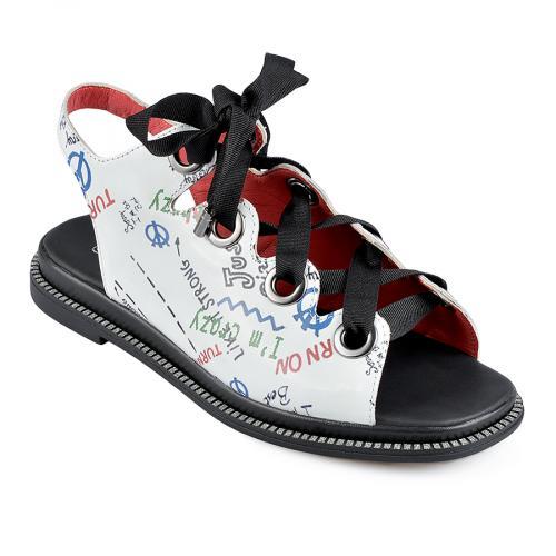 дамски ежедневни сандали бели 0138469