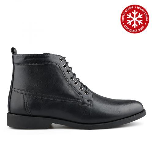 мъжки елегантни боти черни с топъл хастар 0139080