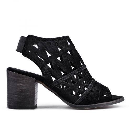 дамски елегантни сандали черни 0136378