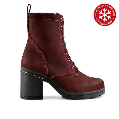 дамски ежедневни боти червени с топъл хастар 0139564