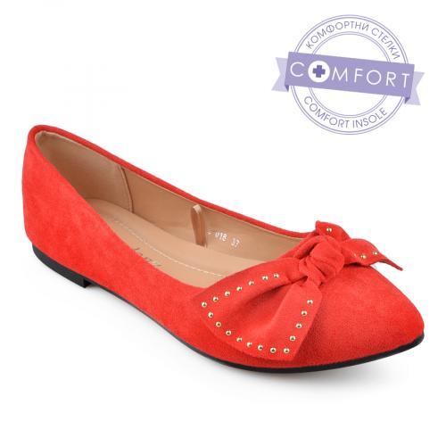 дамски ежедневни обувки червени 0136627