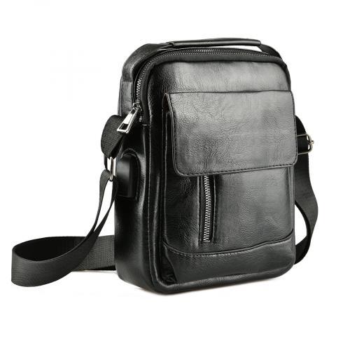 мъжка ежедневна чанта черна 0143879