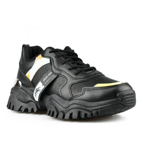 дамски маратонки черни с платформа 0142786