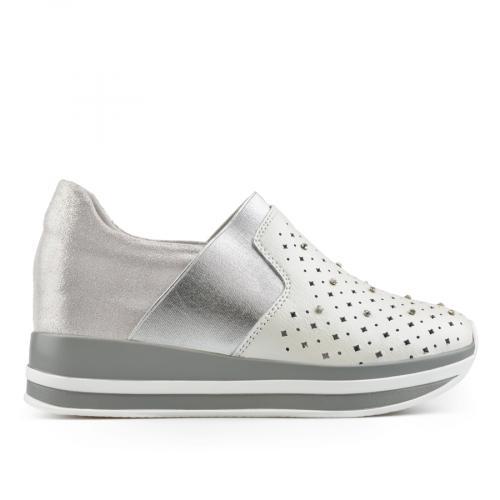 дамски ежедневни обувки сребристи 0137195