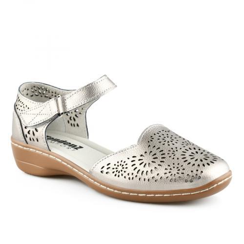 дамски ежедневни сандали сребристи 0139743