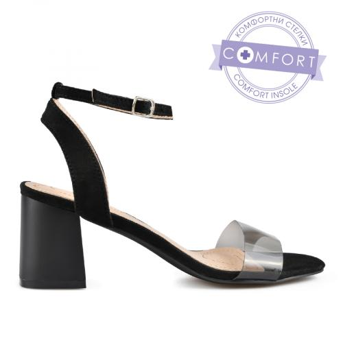 дамски елегантни сандали черни 0137551