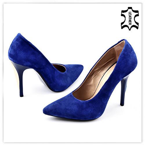 дамски елегантни обувки сини 0121744
