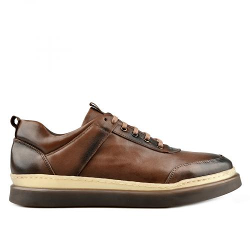 мъжки ежедневни обувки кафяви 0145316