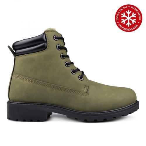 дамски ежедневни боти зелени с топъл хастар 0135220